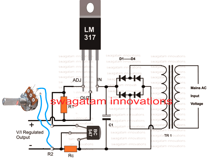 How to Connect pot with LM317 or LM338 Circuit
