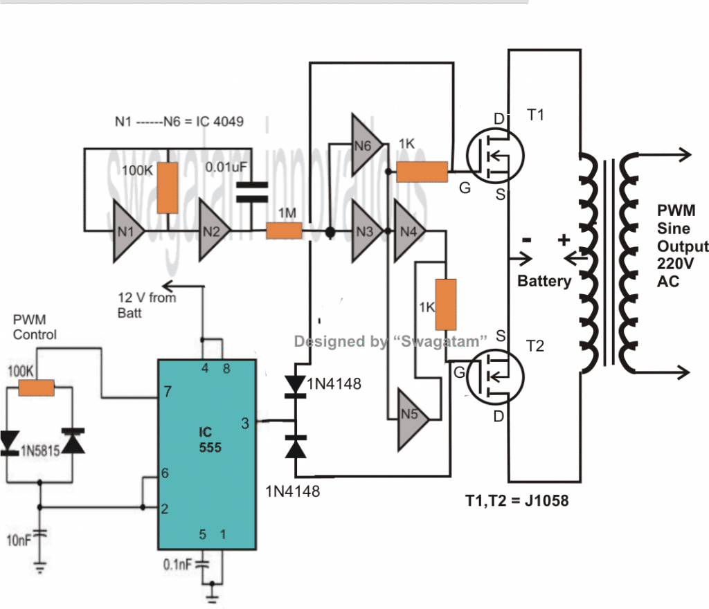 Solar Inverter Circuit Diagram Pdf How To Make A 500 Va Pwm Controlled Modified Sine