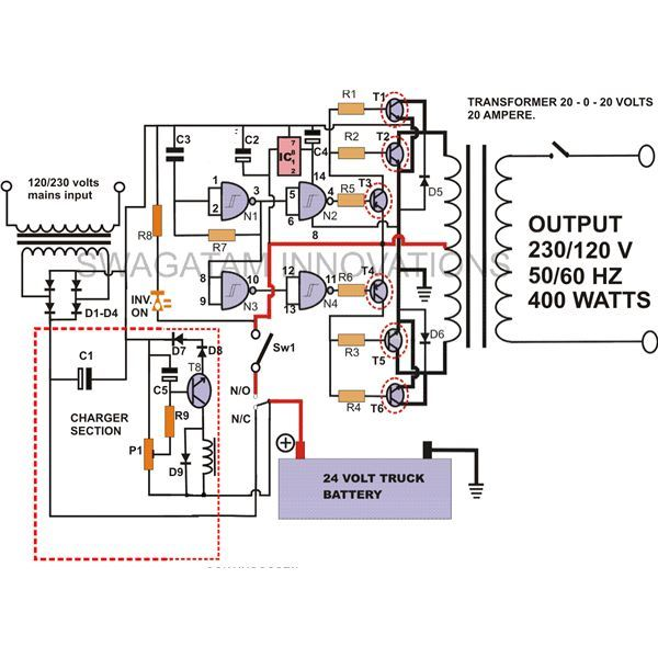 How to Build a 400 Watt High Power Inverter Circuit