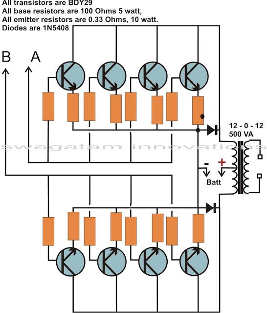 joining parallel transistors for inverter application