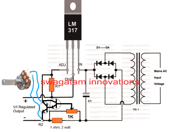 adjustable current i LM317 Ic power supply