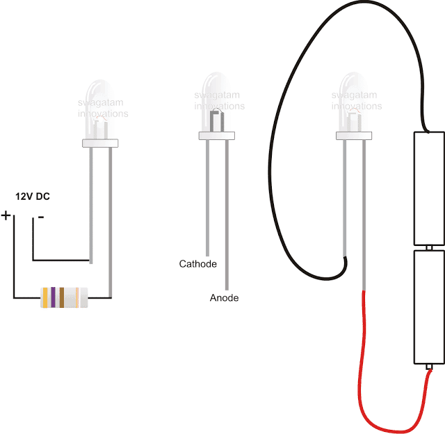 how to add resistor to a LED