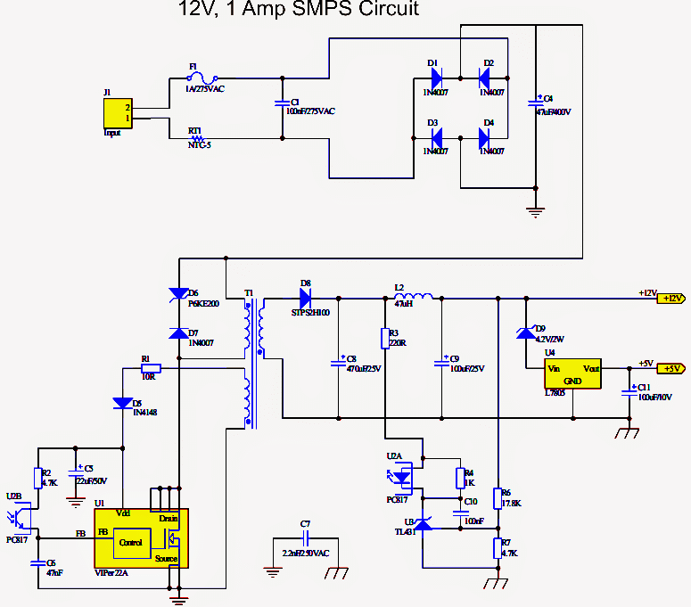 how to make a simple 12 v  1 amp switch mode power supply Switching Power Supply From China How Switching Power Supply Works