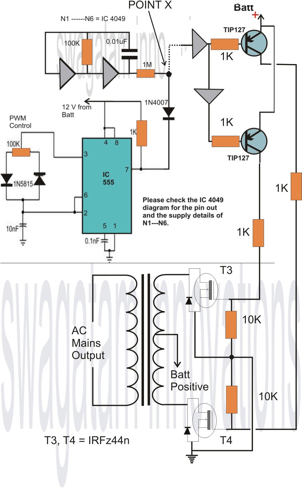 Homemade 2000 VA Power Inverter Circuit