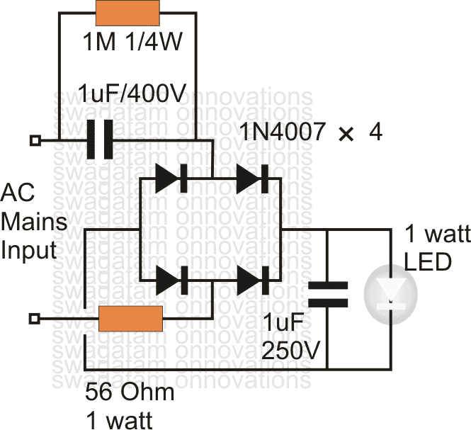 easy 1 watt led driver working with 220v  120v ac