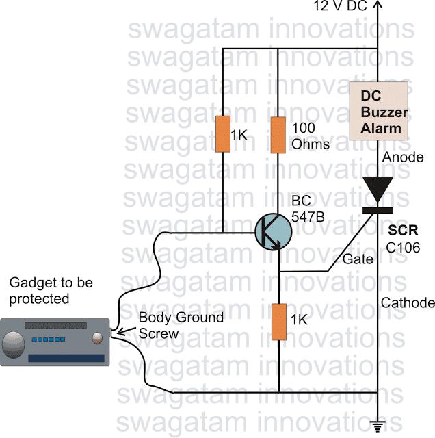 scrburglaralarmcircuit - How to Make Simple SCR Application Circuits