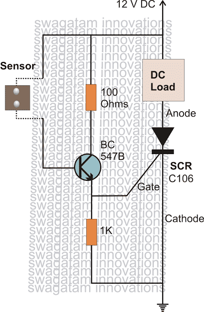 scrrainalarmcircuit - How to Make Simple SCR Application Circuits