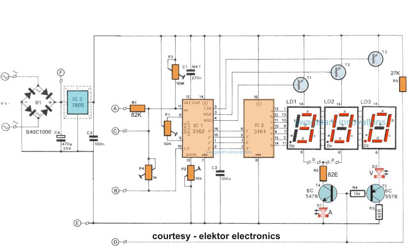 How To Make A Digital Voltmeter, Digital Ammeter Wiring Diagram