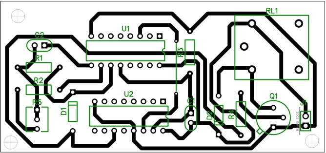 Long Duration timer PCB layout