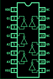 IC 4049 pinout diagram specifications