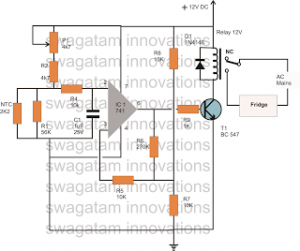 How to Make an Automatic Refrigerator Temperature Controller Circuit