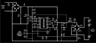 mains AC to DC single chip power supply circuit - Make This Mains Transformerless LED Controller Circuit