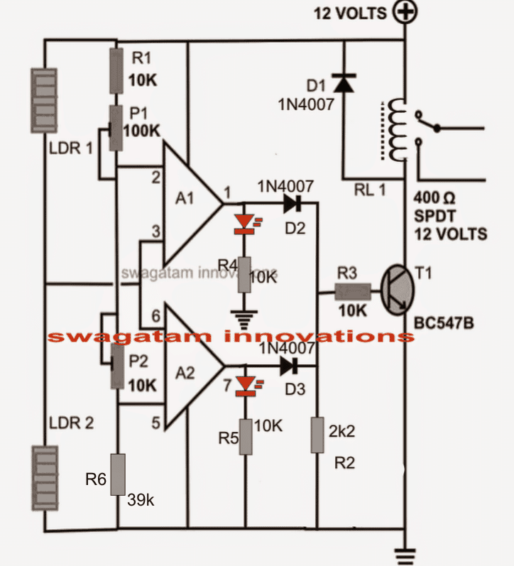LDR shadow based motion detector circuit