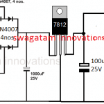 12V regulated power supply circuit using LM7812 IC