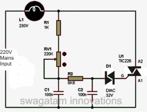 Simple Light Dimmer Switch Circuit