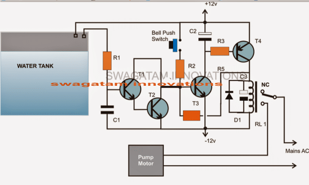 Cheap Semi Automatic, Tank Water Over Flow Controller Circuit
