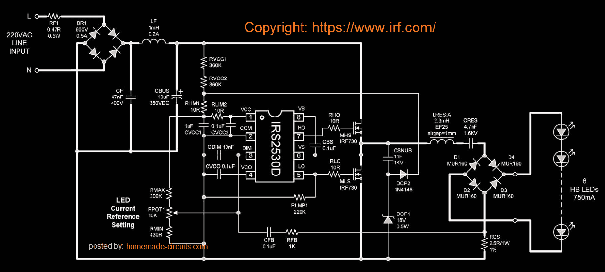 solid state LED bulb with dimmer circuit