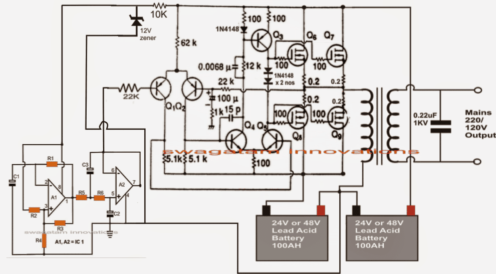 make this 1kva (1000 watts) pure sine wave inverter circuit Circuit Schematics  UPS Inverter Control Block Diagram BMS Circuit Diagram UPS Battery Diagram