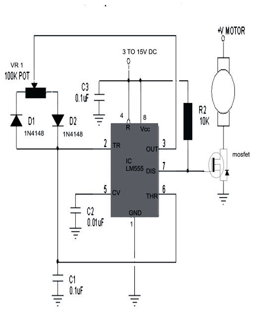 simple dc motor speed controller circuit