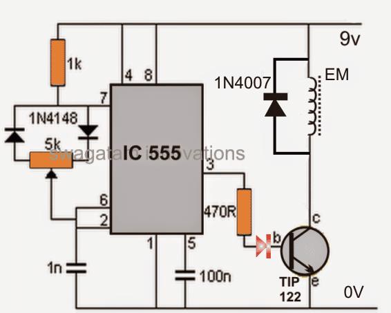 making an adjustable electromagnet circuit