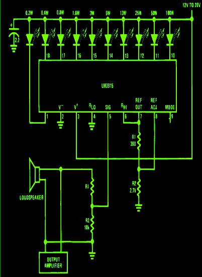 Make this Amplifier Power Meter Circuit