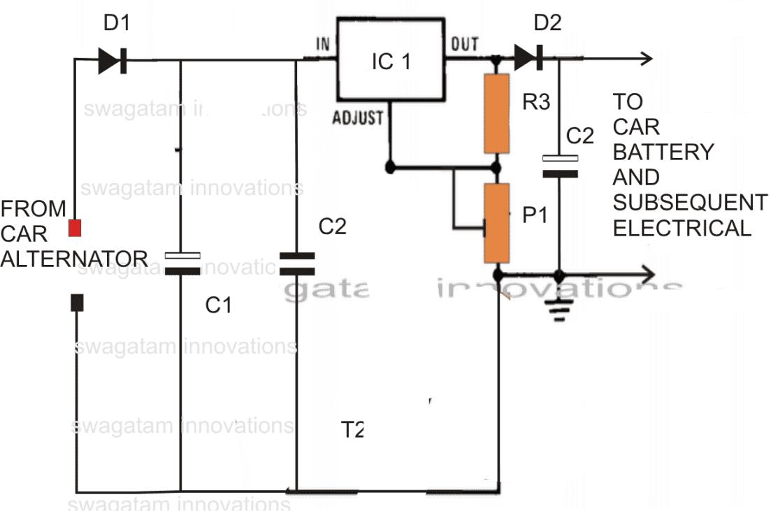 12 вольт стабилизаторы напряжения схема