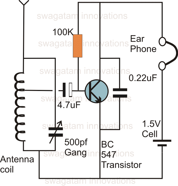 single transistor radio receiver