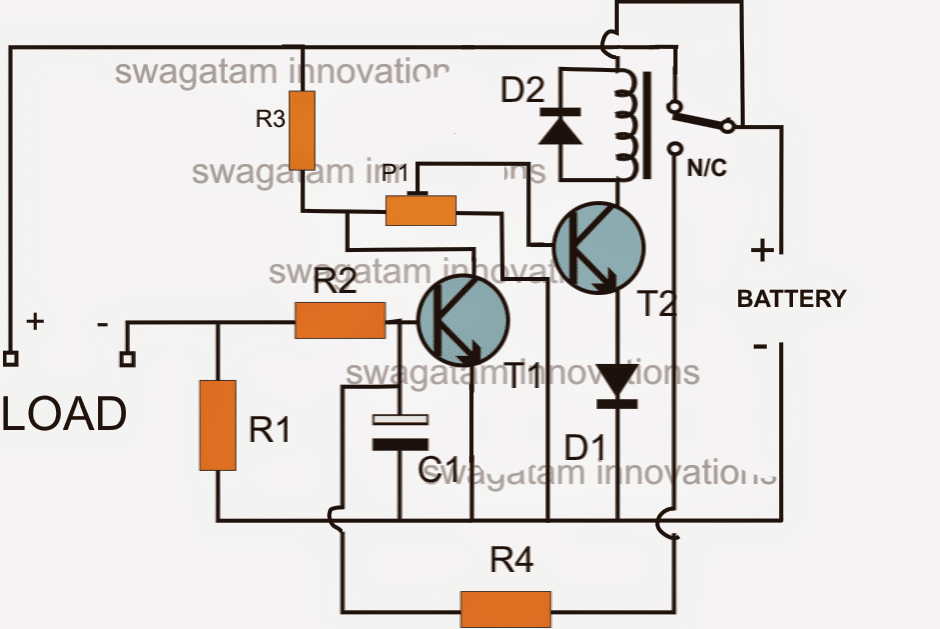 Low Battery And Overload Protection Circuit For Inverters