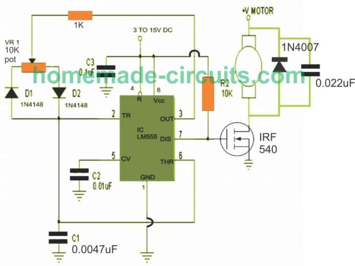 modified pwm DC motor control circuit