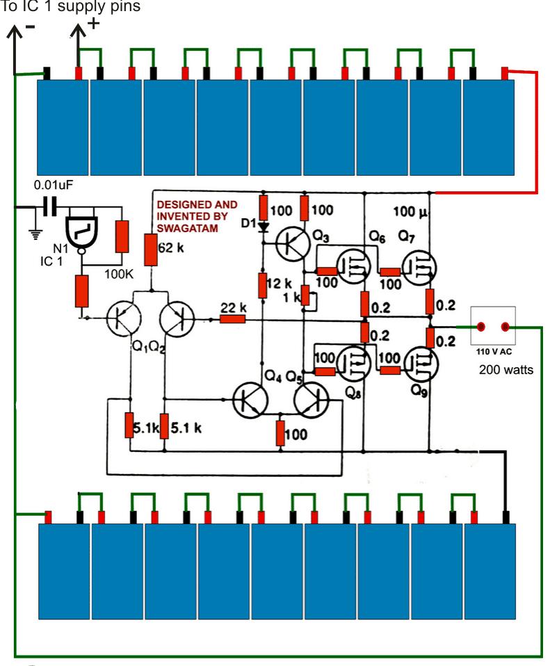 transformerless PWM inverter circuit