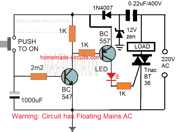 simple compact transistorized timer circuit