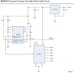 Modifying a Car Tail Light Circuit