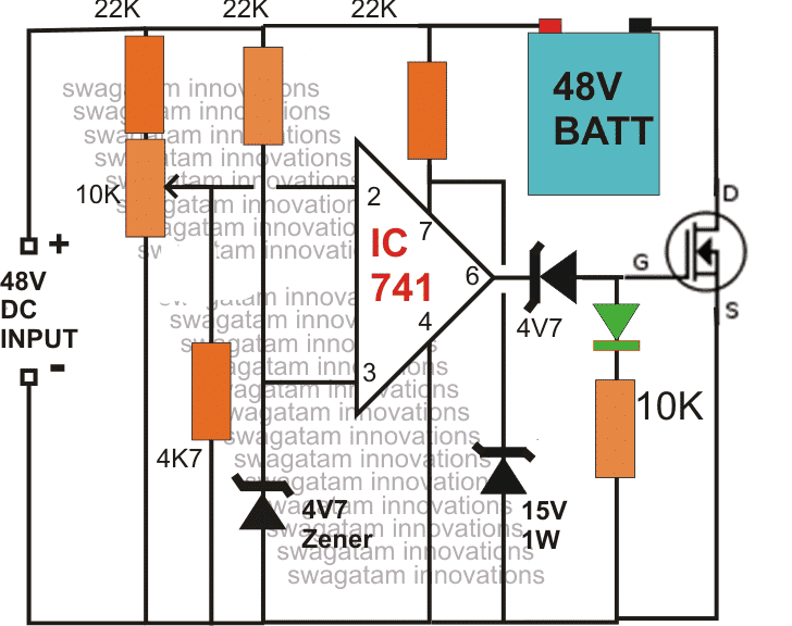 48Vbatterychargercircuit make this 48v automatic battery charger circuit Basic 12 Volt Wiring Diagrams at et-consult.org