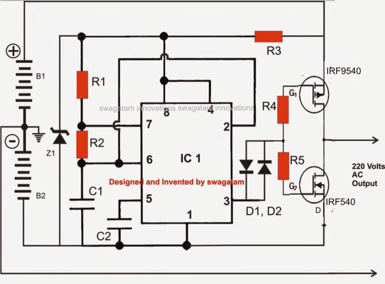 solar inverter circuit diagram
