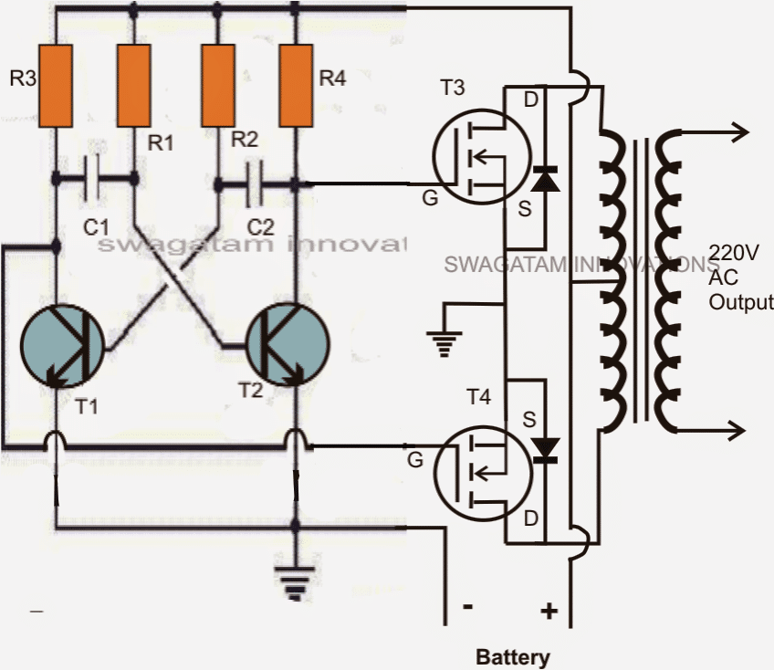2 Cool 50 Watt Inverter Circuits for Students and Hobbyists