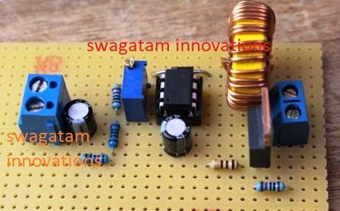 boost converter circuit using IC 555