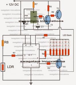 PIR LED Lamp Circuit