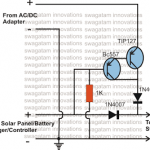 Solar Battery Charger, AC/DC Adapter Changeover Relay Circuit Diagram