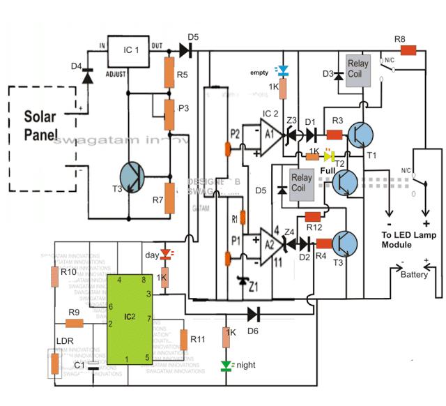 Automatic 40 Watt LED Solar Street Light Circuit Project - Part-1