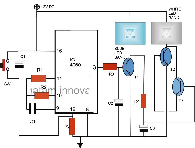 led timer circuit for for aquarium 1 - Making LED Illumination Circuit for Fish Aquariums