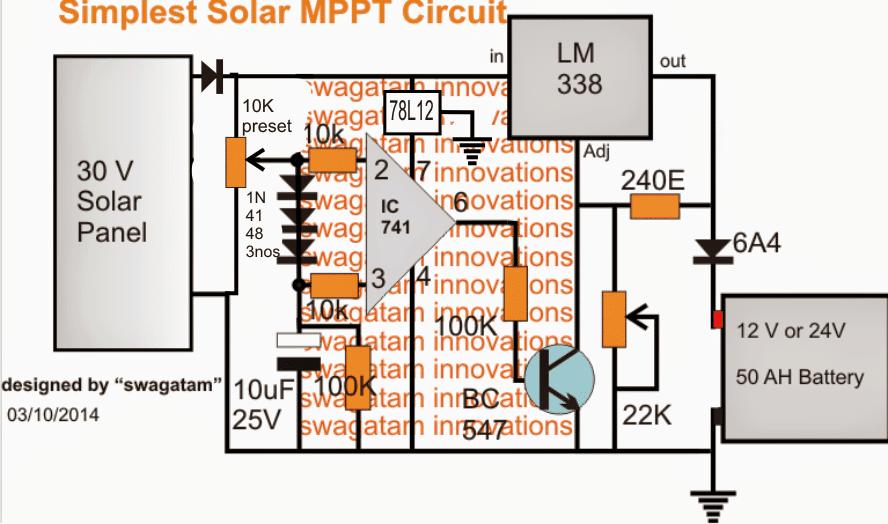 simple MPPT knee voltage tracker and self adjust