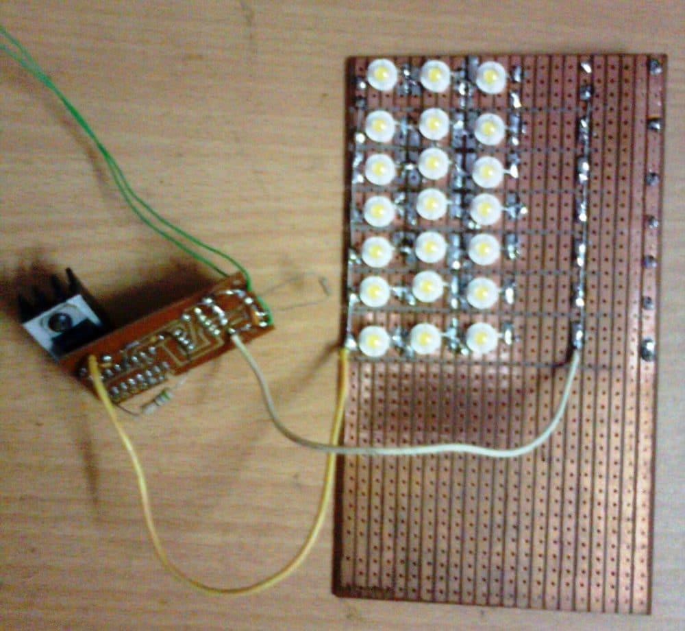 street light 20 watt from homemade circuits