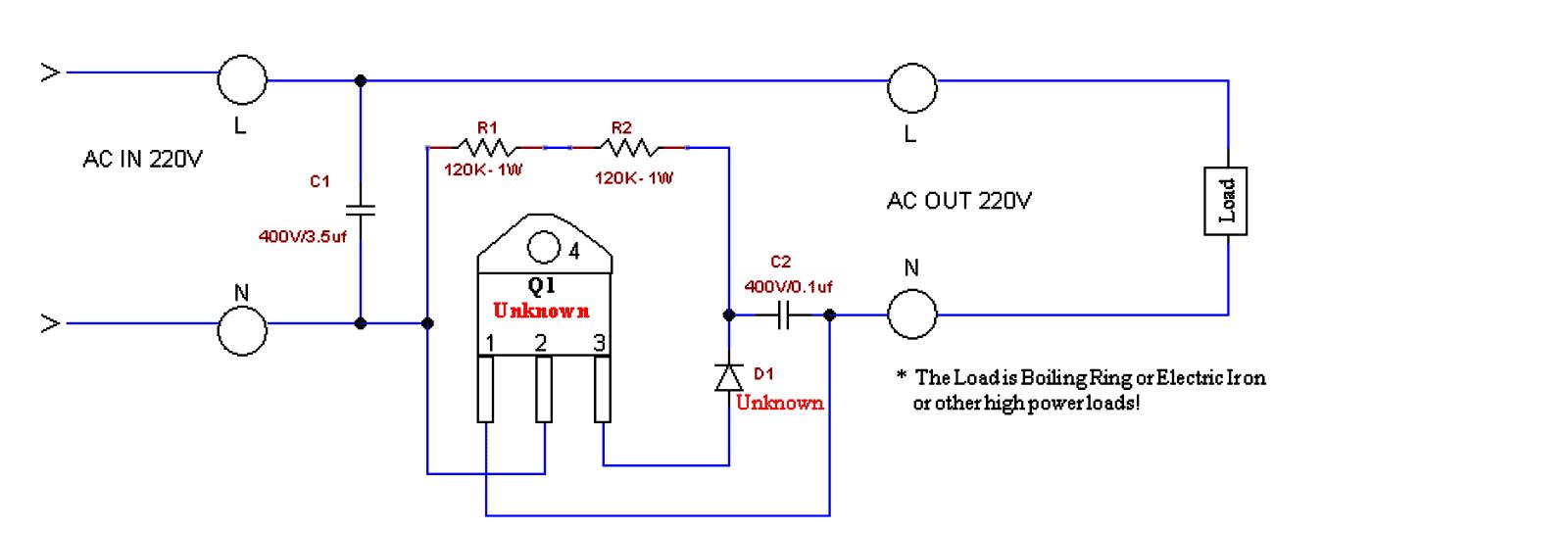 Generator/Alternator AC Voltage Booster Circuit
