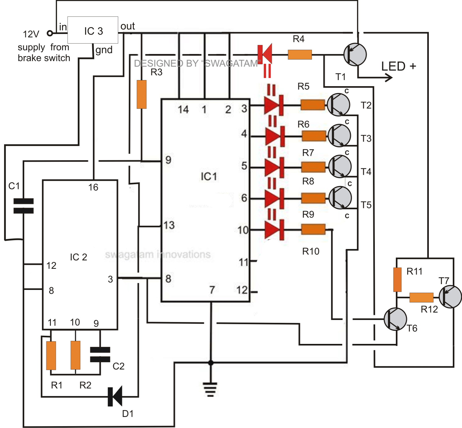 cdi ignition schematic electronic 12v dc capacitive discharge ignition  cdi  circuits  12v dc capacitive discharge ignition