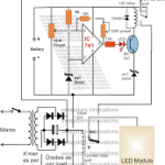 Automatic 10 Watt to 1000 Watt LED Emergency Light Circuit