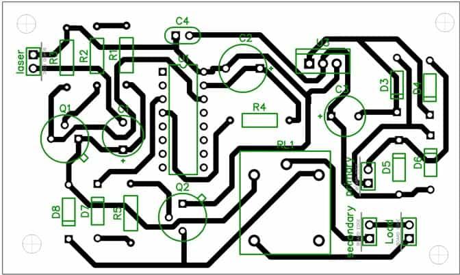 laser beam activated remote PCB