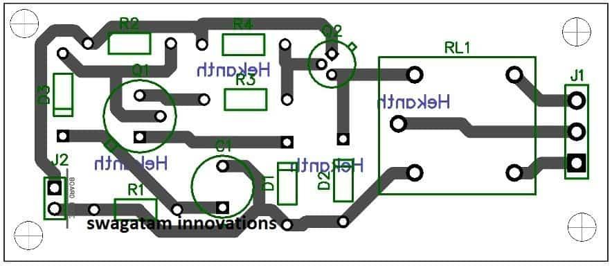 delay ON timer PCB design