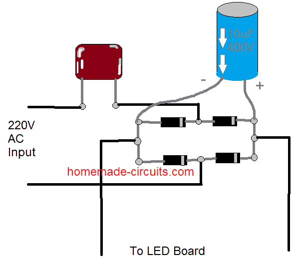 CFL led lamp circuit