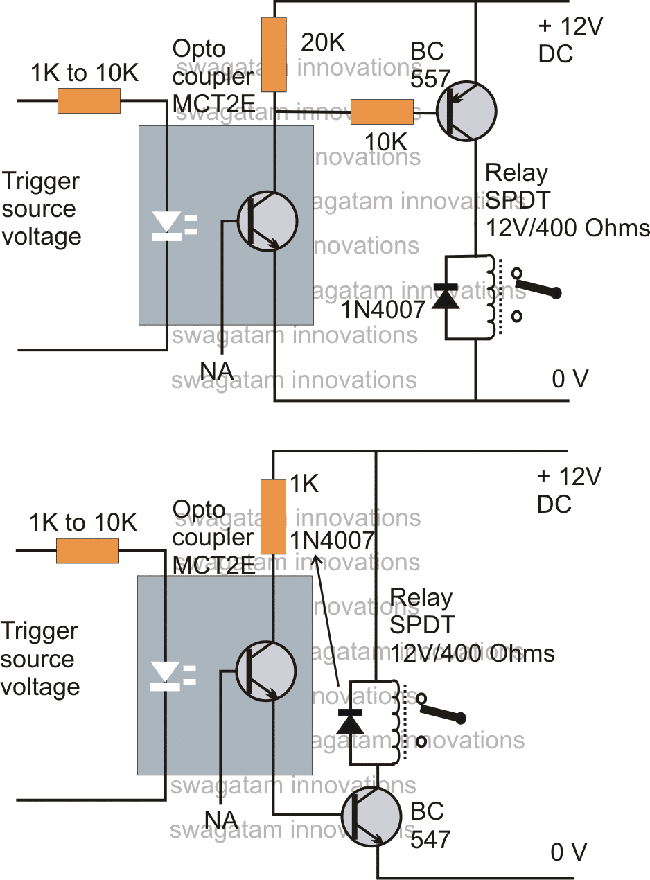 How To Drive Relay Through Opto Coupler