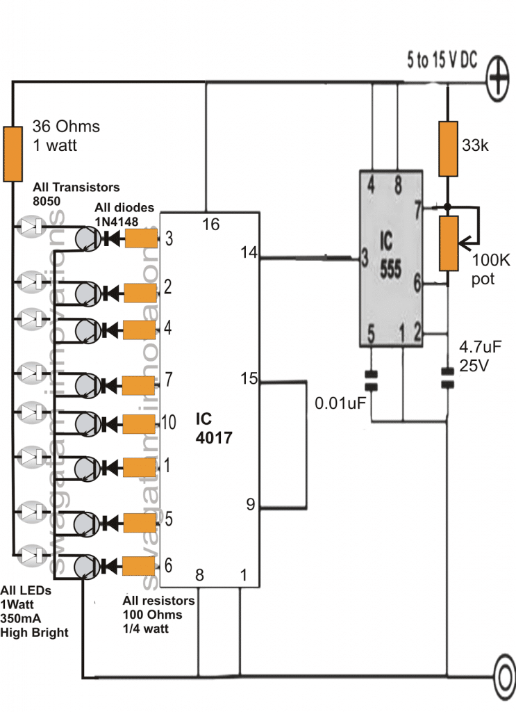 3 interesting drl  day time running light  circuits for